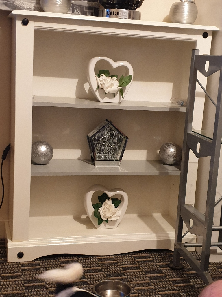 Bookcase + side table