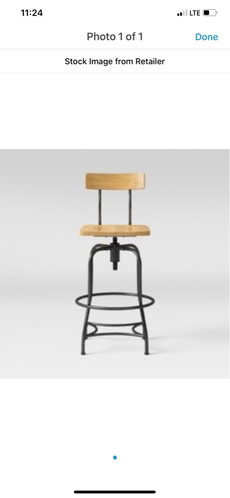 *Woodsboro adjustable stool*