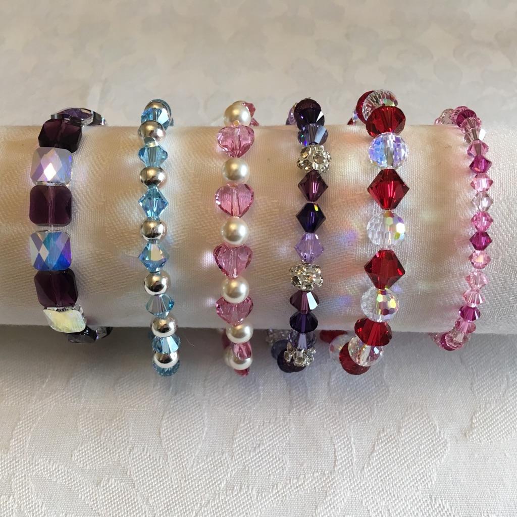 Swarovski Crystal bead bracelets