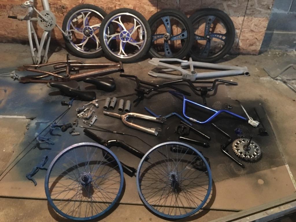 Bmx assorted parts