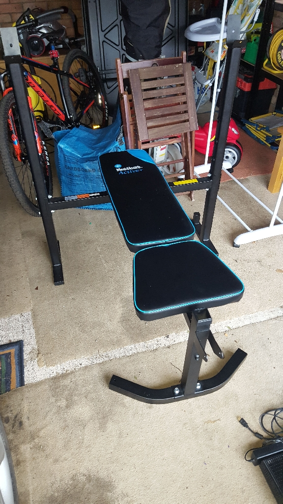 Men's health + bench 50kg weights