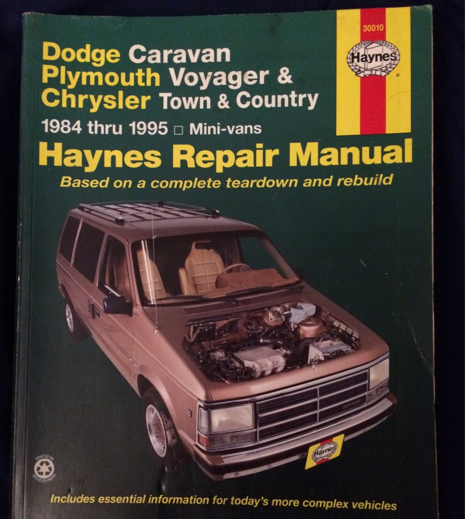 Dodge Caravan Plymouth Voyager and Chrysler Town and Country Repair Manual