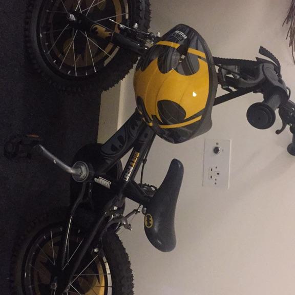 Batman bike and helmet