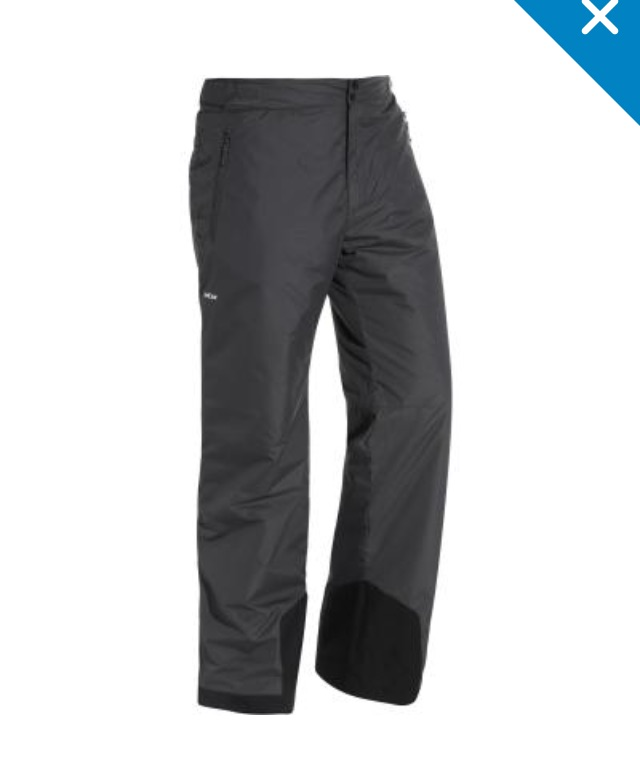 WED'ZE SKI-P 100 men's DOWNHILL SKI PANTS - GREY size XL or S  Can be worn for women too