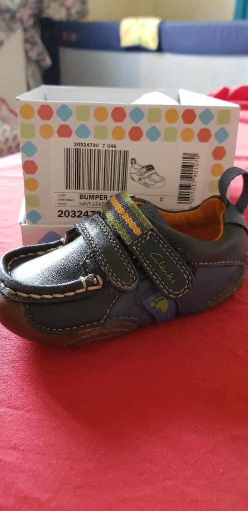 Blue boys Clarks shoes