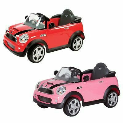 Pink electric mini cooper with remote control