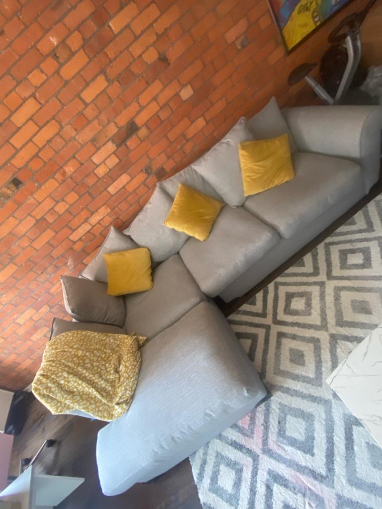DFS Corner Grey Sofa