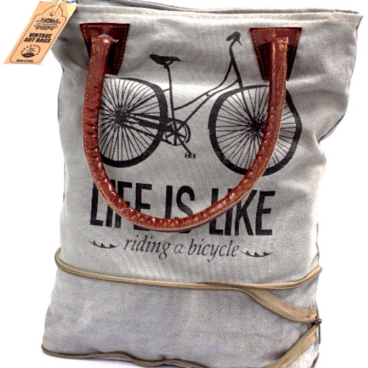 Vintage bag- bicycle expandable