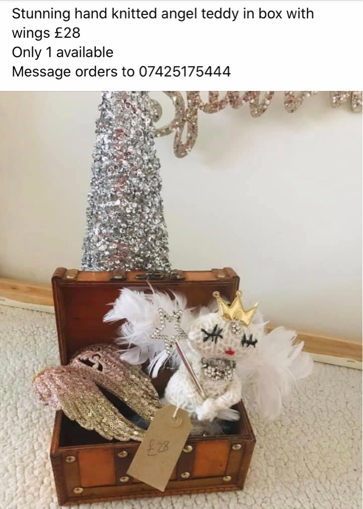 Knitted handmade ornamental