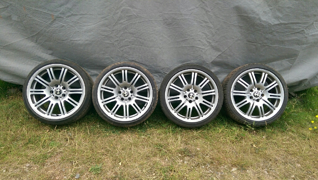 GENUINE BMW E46 19INCH ALLOY WHEELS AND TYRES X4