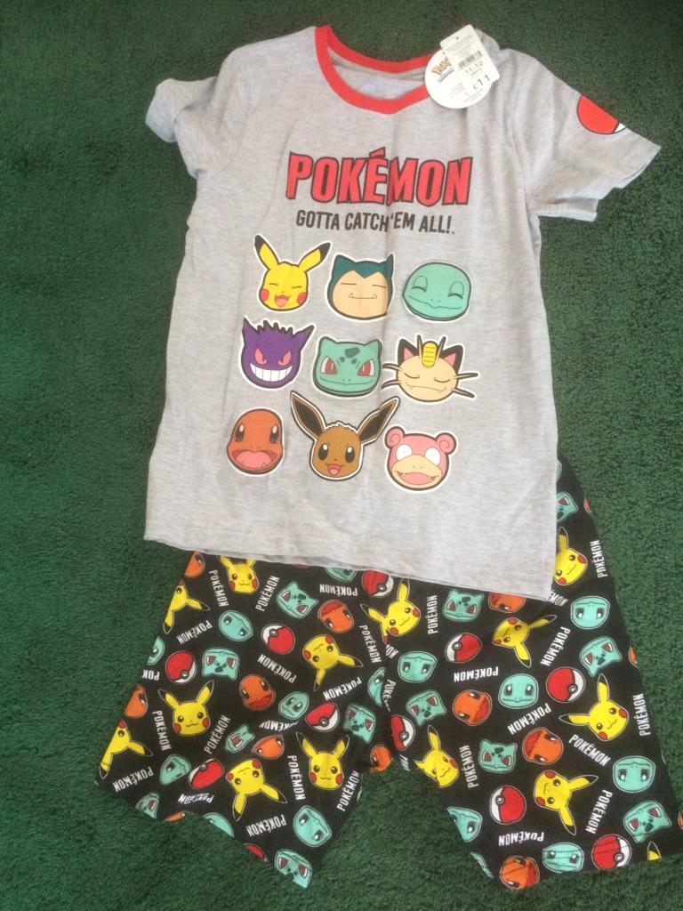 Pokemon Shortie Pyjamas - age 11-12