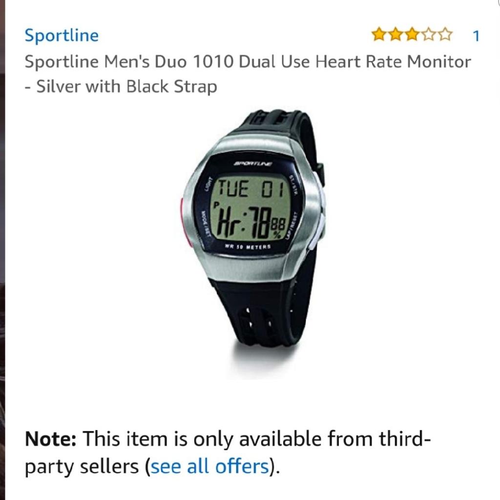 Men's heart monitor duo watch