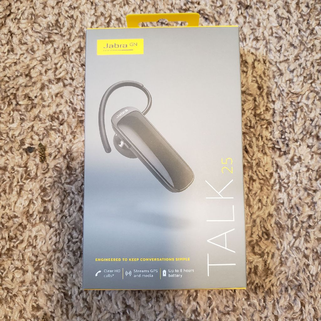 Jabra Talk 25 Bluetooth Headset In Sealed Package!!