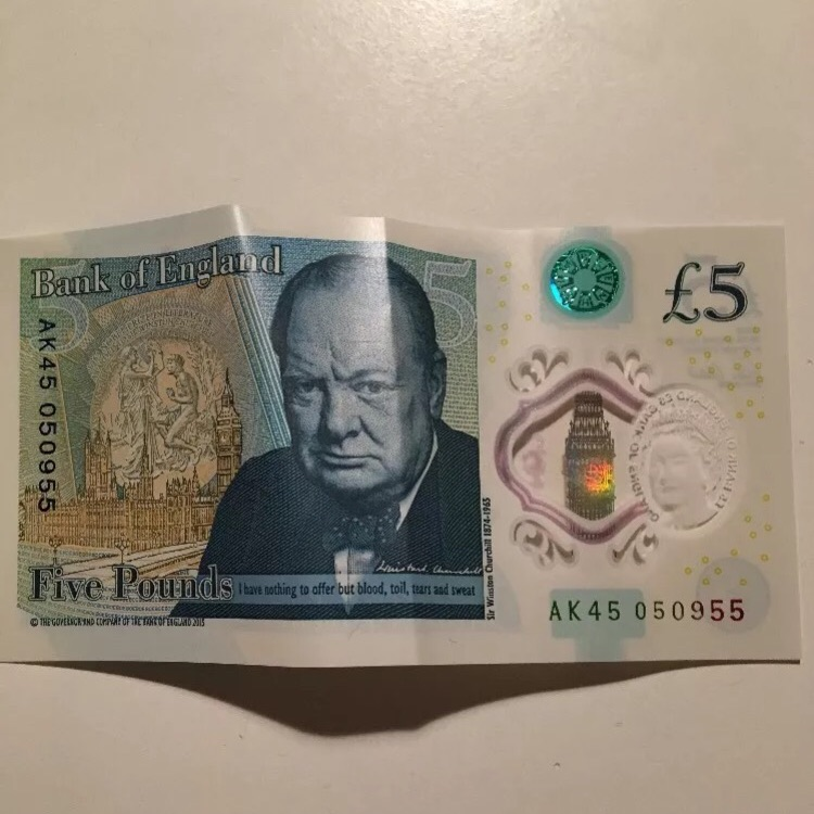 Rare 5 pound note
