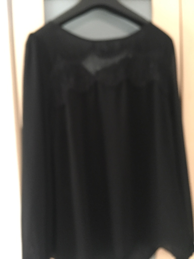 Black new look top nearly new fits 12/14