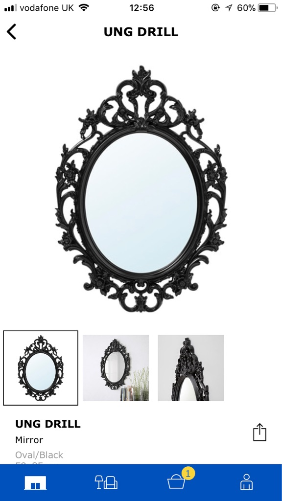 Oval Black Mirror