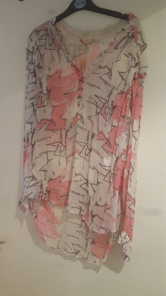 Hugo Boss silk blouse, size 12, new with tags