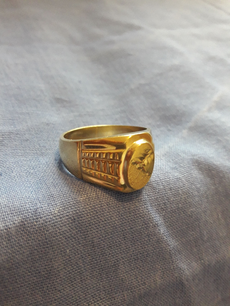 18k gold heavy solid pure gold ring