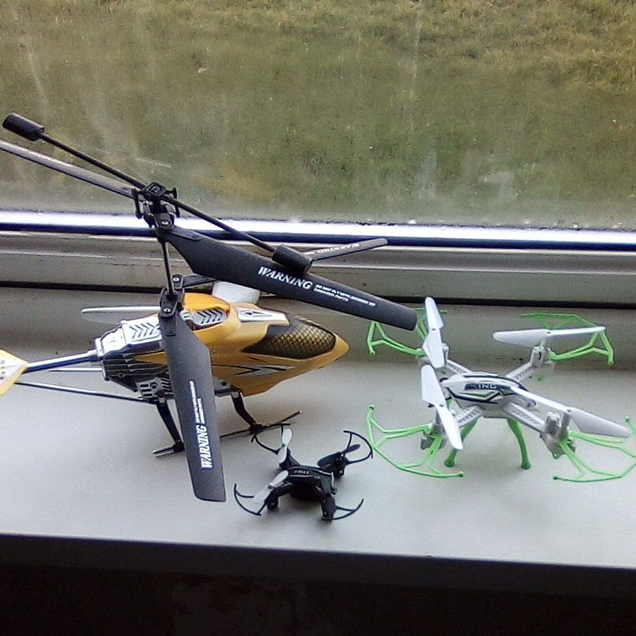 2+ drones and 1+ helicopter