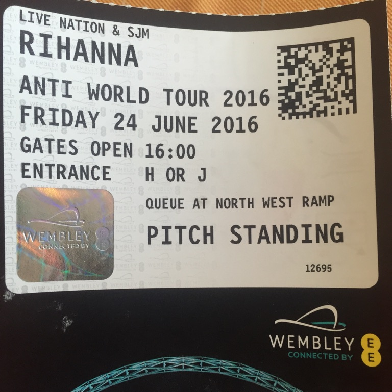 Rihanna tickets - Wembley Friday 24th june