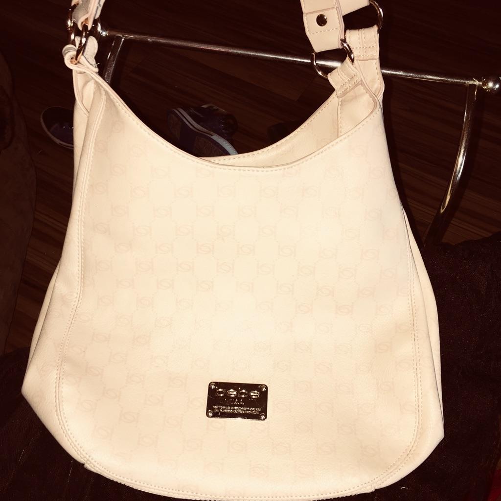 New Bebe cream purse