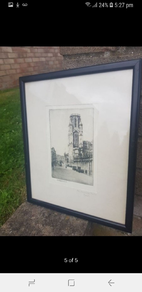 Antique 19th Centry Etching prints of Bristol