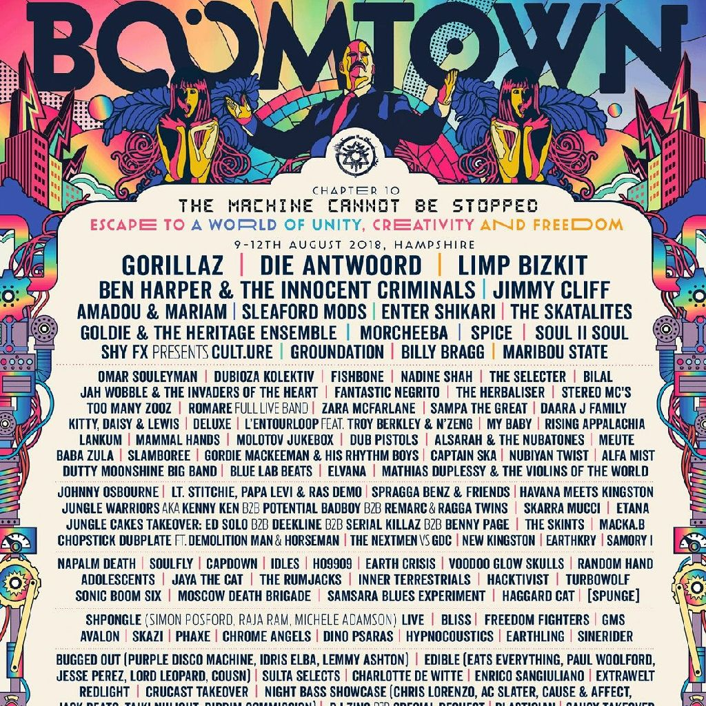 2 x Boomtown tickets, Winchester Hampshire