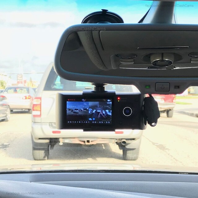 2-Camera Front & Inside Dual Dash Cam + Installation