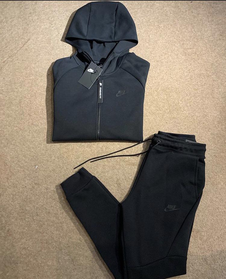 Nike Tech Fleece Tracksuit Black Village