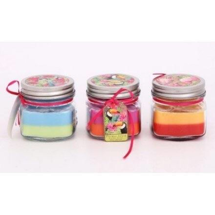Tropical Paradise Layered Candles set of 3