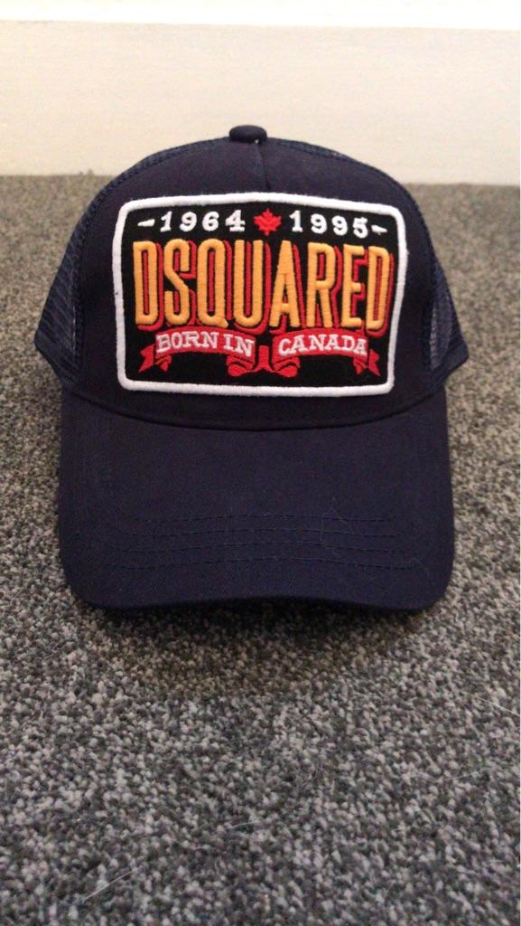 Dsquared navy blue trucker SnapBack