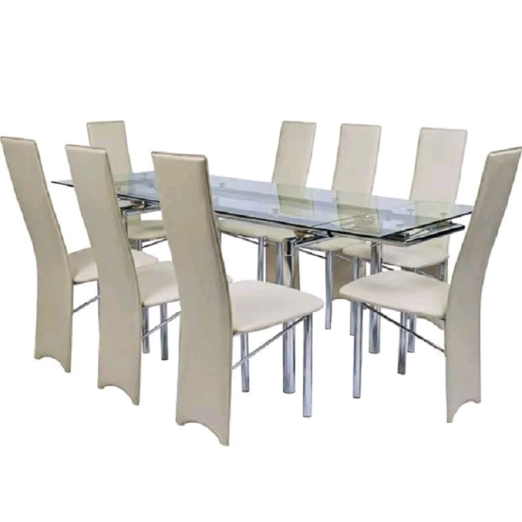 Sapphire dining table with 8 chairs