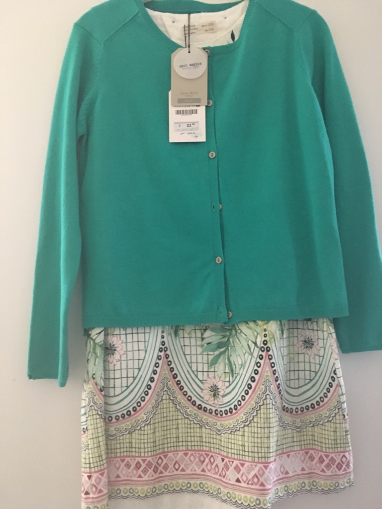 Zara dresses with matching cardigans new wth tags