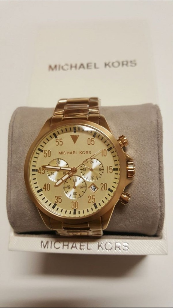 NWT Michael Kors Men's Gold Tone Watch