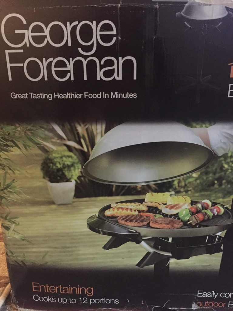 George foreman outdoor/indoor grill/bbq
