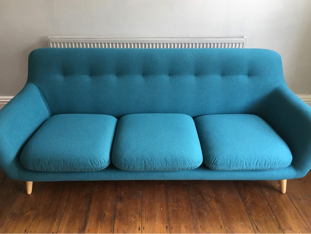 Made.com Dylan 3 Seater Sofa, Mineral Blue