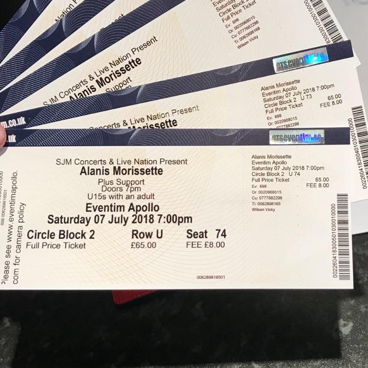 Alanis Morisette Concert Tickets