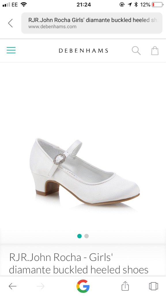 RJR JOHN ROCHA DEBENHAMS GIRLS WHITE SHOES SIZE 3