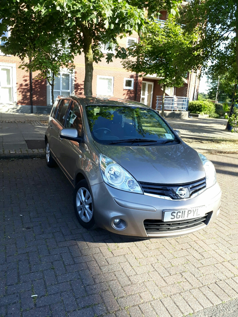 Nissan Note Acenta 2011. Excellent condition. Manual. Petrol. Very clean car. Nice beige colour. Everything fully working. Pet free. Smoke free. Full service history and log book. Any questions message me. Also if you want to come and have a look message me.  07404161632