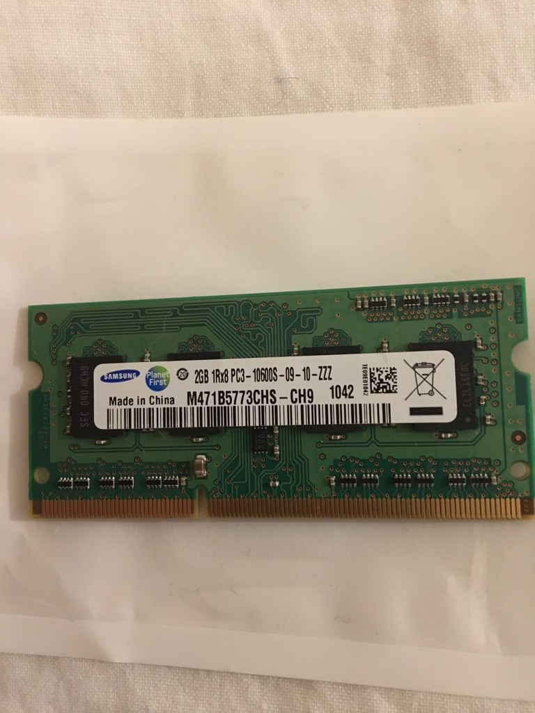 Samsung 2GB Ram 1Rx8 PC3-10600s