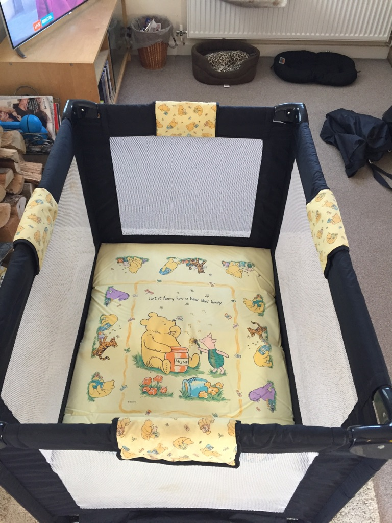 Winnie-the-Pooh travel cot/playpen Mothercare