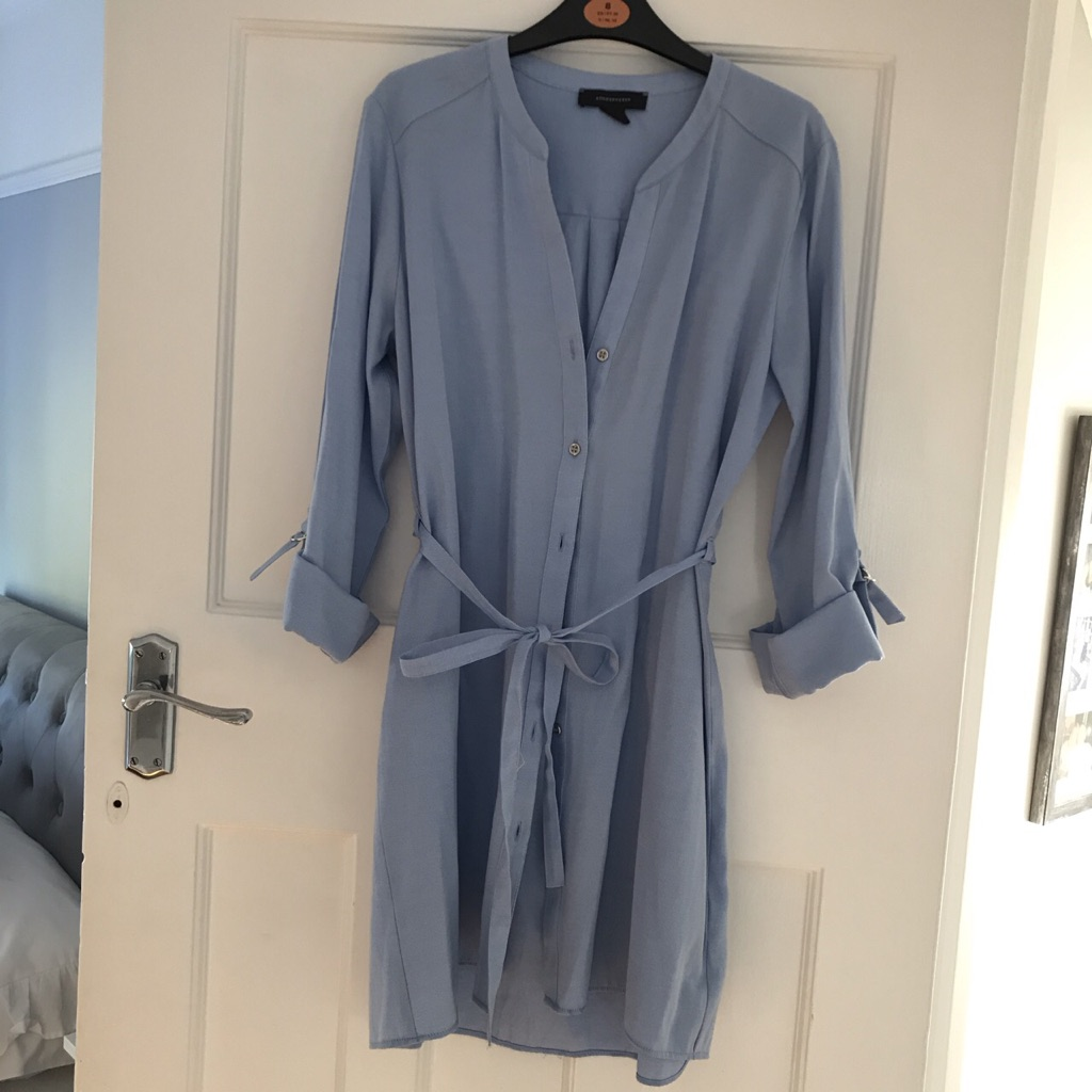 Atmosphere baby blue shirt dress