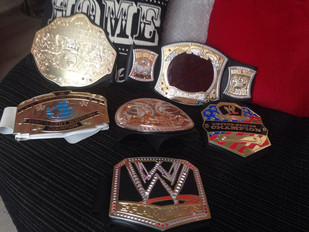 Wrestling bundle 6 belts elimination chamber hell in s cell cage