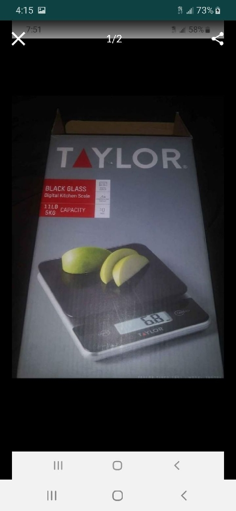 Taylor's kitchen scale