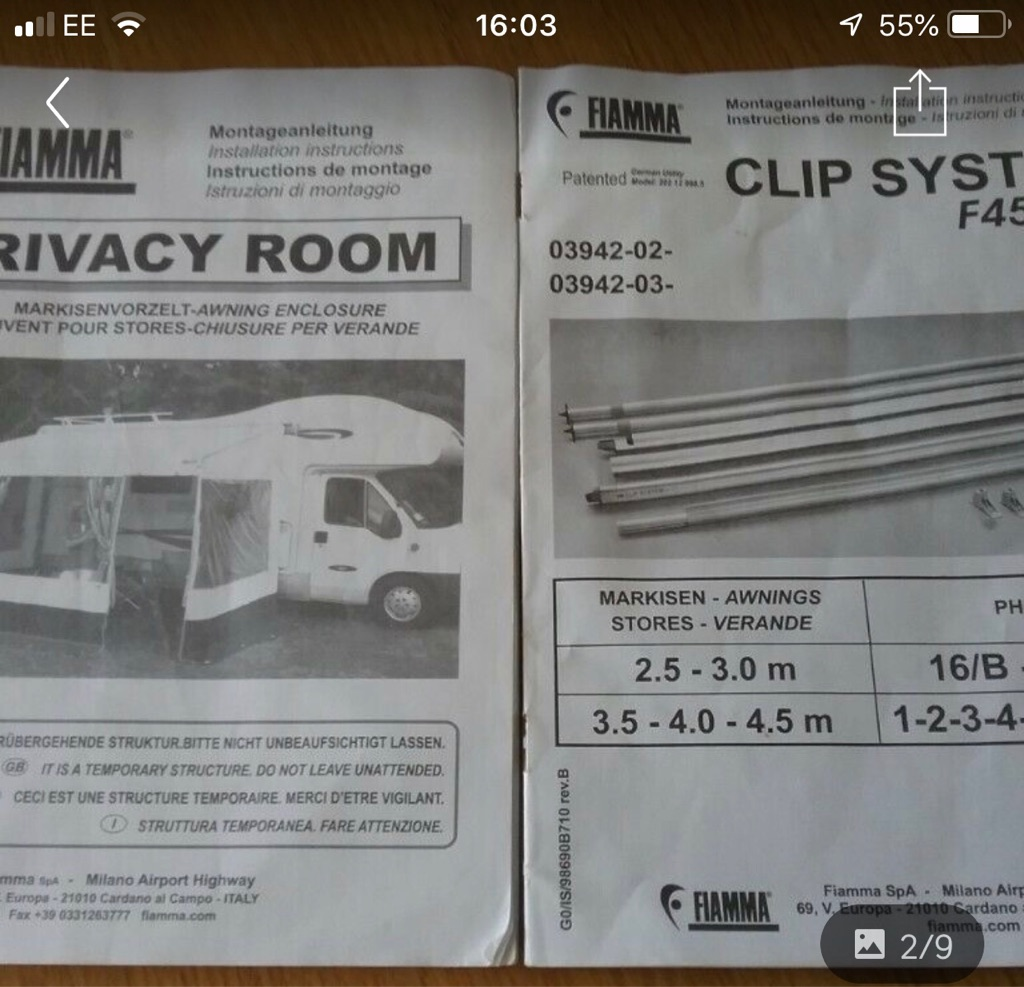 Privacy room for Fiamma F45S motorhome awning 4.5 meters