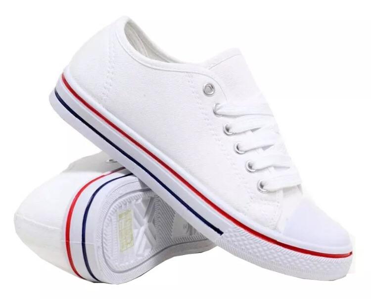 Unisex canvas lace up trainers pumps shoes