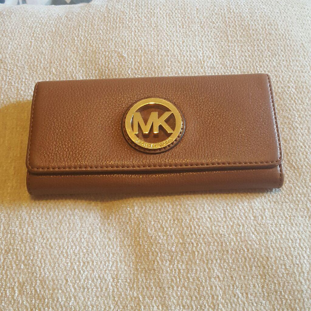 Genuine Michael Kors Tan leather purse