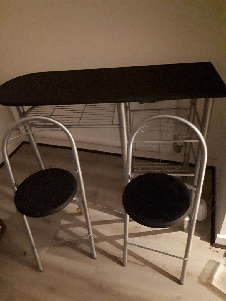 breakfast bar and original stools