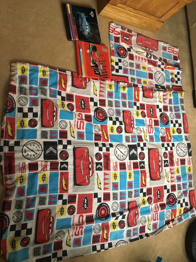 Cars cotbed duvet cover set and wall hangs