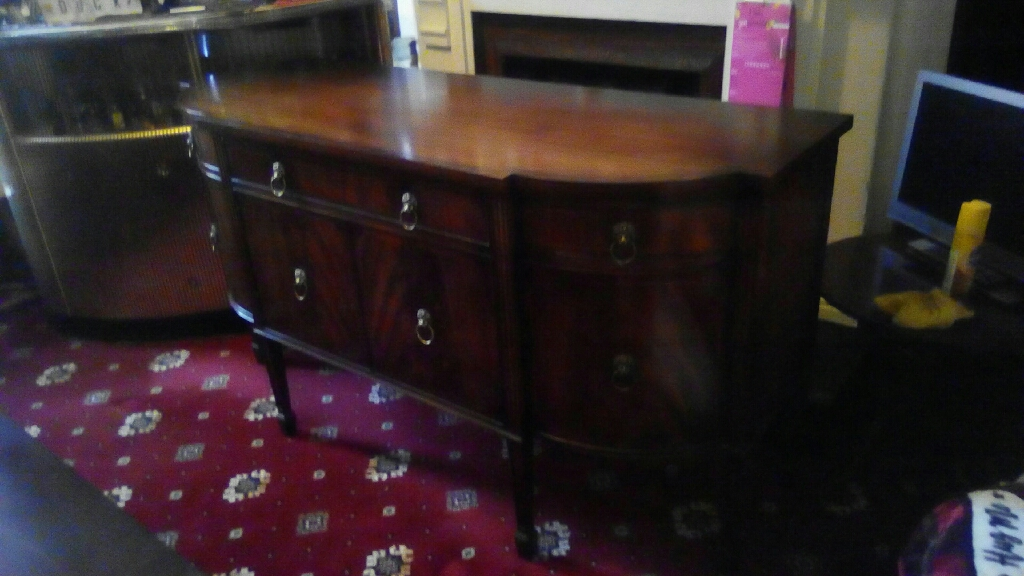 INLAID MAHOGANY SIDEBOARD